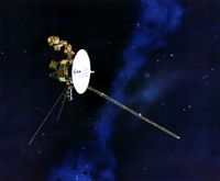 Voyager in flight.