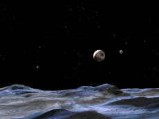 Pluto with Charon.