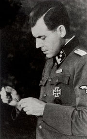Mengele in uniform