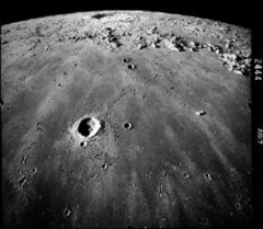 impact crater moon.