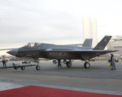 The F-35A.