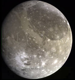 Ganymede by Galileo probe.