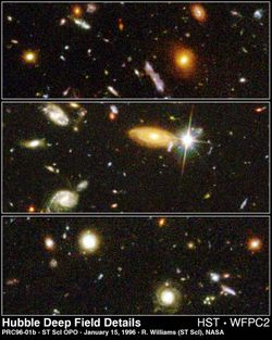 Hubble Deepfield galaxy shapes.
