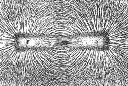 Magnetic field lines.