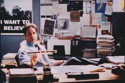 Mulder in his basement office.