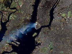 September 11 from space.