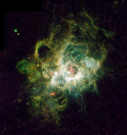 hydrogen in the Triangulum Galaxy.