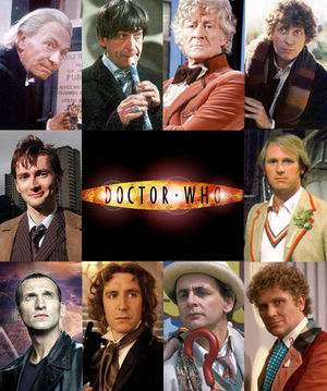 faces of Dr Who.