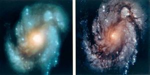 Hubble Deepfield distant galaxies.