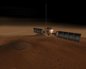 Mars Express spacecraft.
