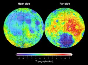Topography of the Moon.