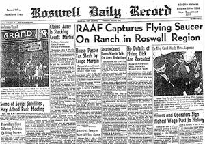 Roswell UFO.