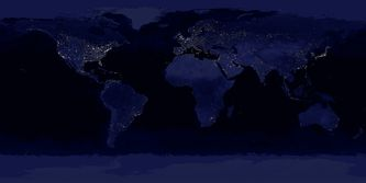 Earth at night.