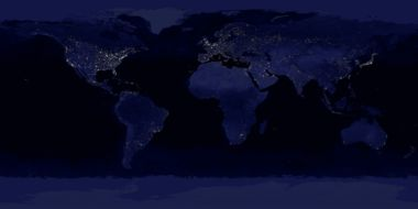The Earth at night.