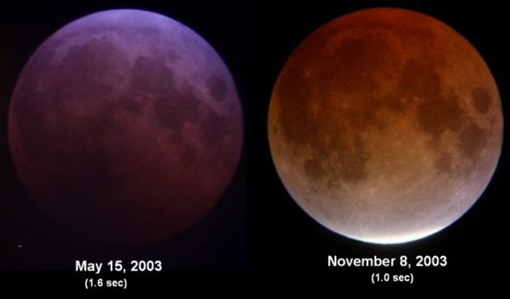 lunar eclipses.