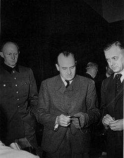 Alfred Rosenberg at the Nuremberg trials