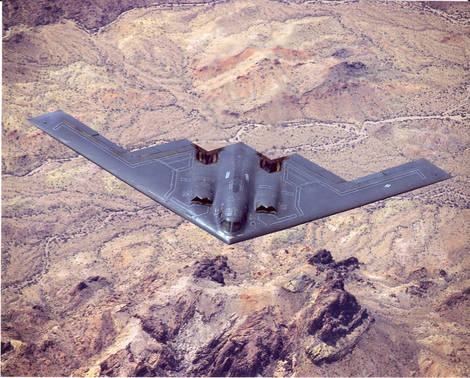 The B-2's first public flight in 1989.