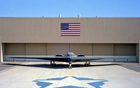 B2 bomber rollout ceremony.