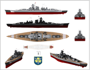 Bismarck from several angles.