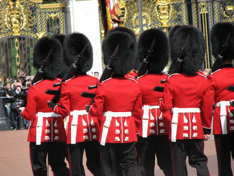 Changing the Guard at Buckingham Palace.