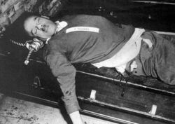 The body of Fritz Sauckel after his execution.