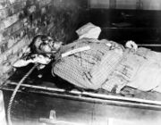 The body of Wilhelm Frick after his execution.