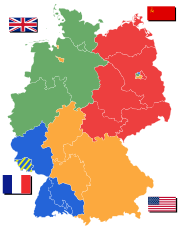 German occupation zones.