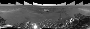 The crater Eagle on Mars.
