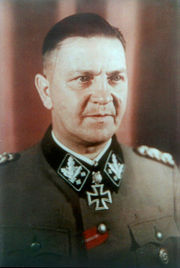 Theodor Eicke as an SS-Obergruppenführer, Autumn 1942.