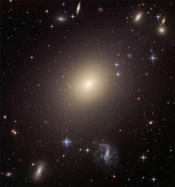 Elliptical galaxies.