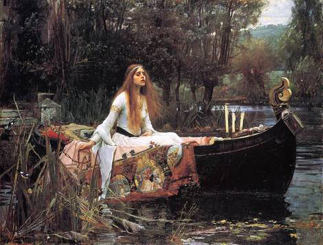 The Lady of Shalott by John William Waterhouse.