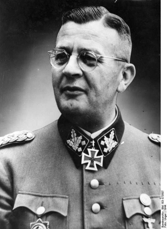 Erich von dem Bach-Zelewski was a Nazi official and a member of the SS.
