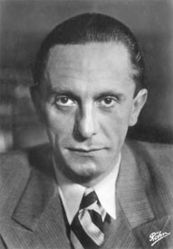 Dr. Paul Joseph Goebbels, leader of the NSDAP's propaganda machine, later the minister in charge of all Nazi Propaganda and Hitler's successor as the Chancellor of Germany.