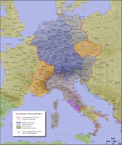 The Holy Roman Empire in 1000.