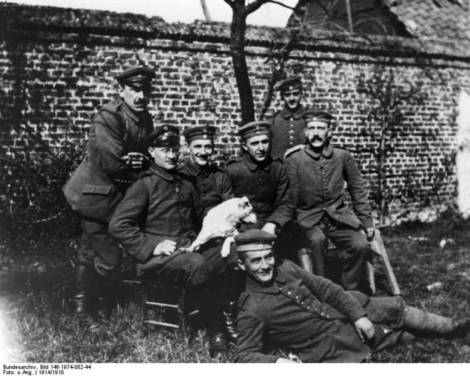Hitler in the German Army.