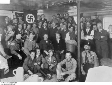 Hitler at NSDAP meeting.