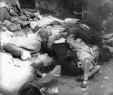 Polish civilians executed in Warsaw.