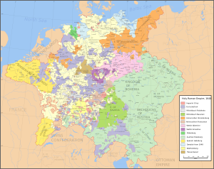 The Holy Roman Empire after the Peace of Westphalia, 1648.
