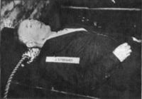 The corpse of Julius Streicher after his execution in 1946