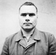 Josef Kramer, in Celle awaiting trial, August 1945.