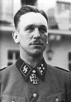 Kurt Panzer Meyer in 1942 after being awarded the Oakleaves to the Knight's Cross