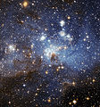LH 95 stellar nursery in Large Magellanic Cloud. Credit: NASA/ESA.