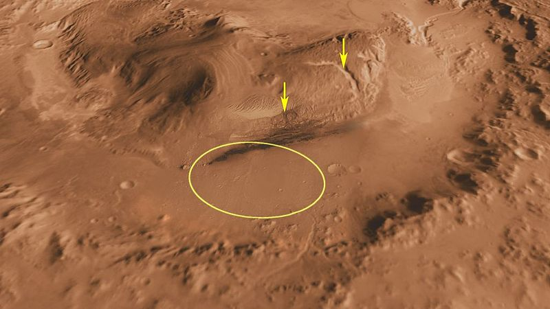 Landing Site For Mars Curiosity Rover.
