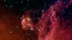 Orion by Spitzer Space Telescope.
