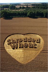 crop circle Shredded Wheat logo.