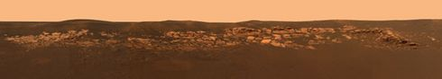 Mars Opportunity Rover Eagle crater.
