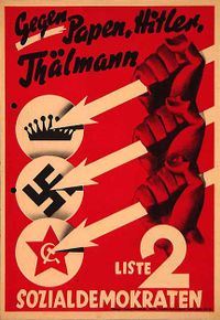 SPD election poster, 1932.