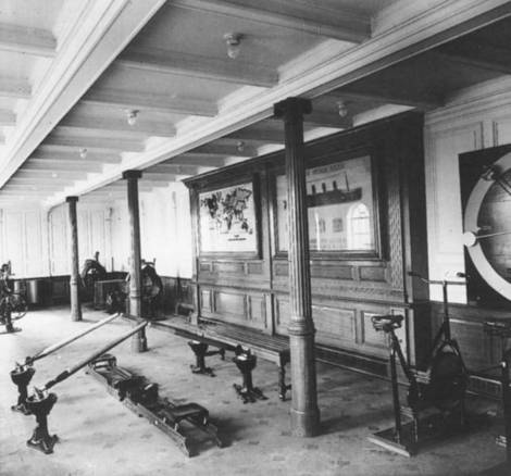 Gymnasium aboard the Titanic..