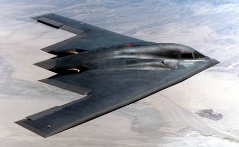 B-2 Spirit bomber of the US Air Force.