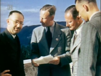 Karl Wolff (2nd from the right) together with, from left to right: Heinrich Himmler